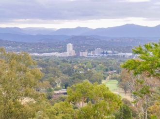 Looking down on Woden from Red Hill