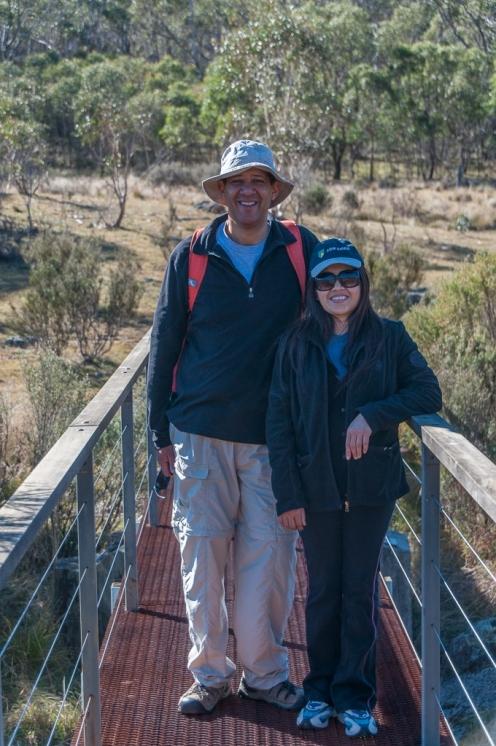 Ja and me on the bridge