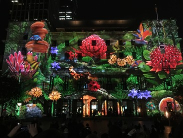 Old Customs house during Vivid