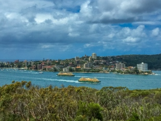 Looking back into Manly from Dobroyd Head