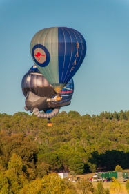 The old and new RAAF balloons take-off